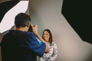 séance photo pour bilan esthétique au studio dentaire lyon